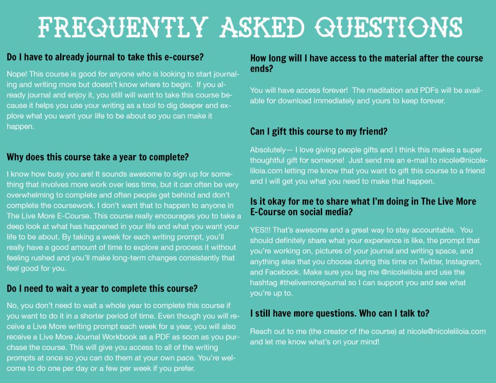 FAQ-LiveMoreCourse