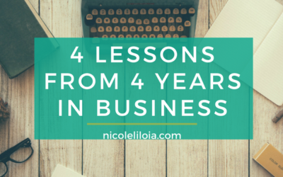 4 Lessons from 4 Years in Business
